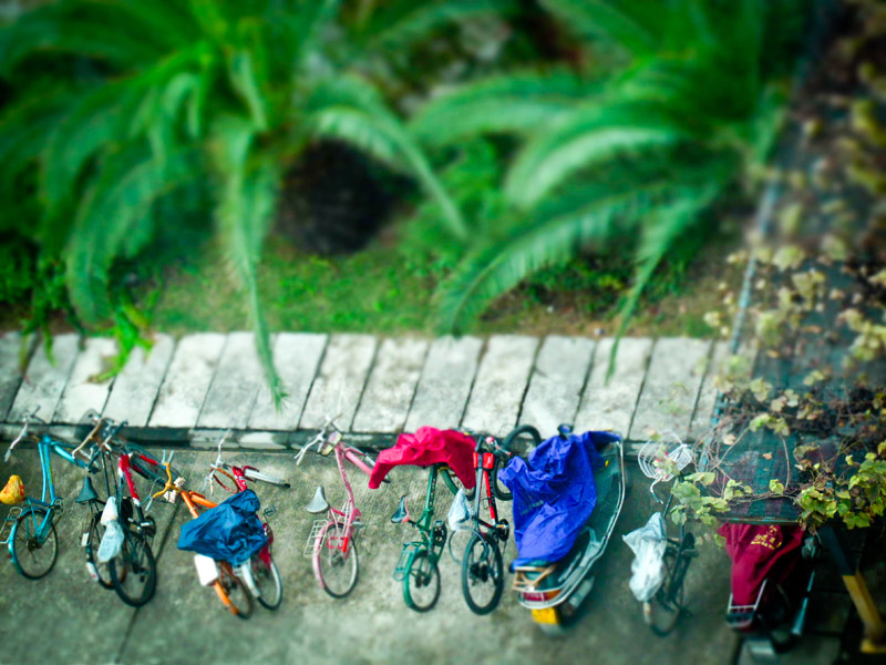 Bike parking in China- Photo by James Thomas