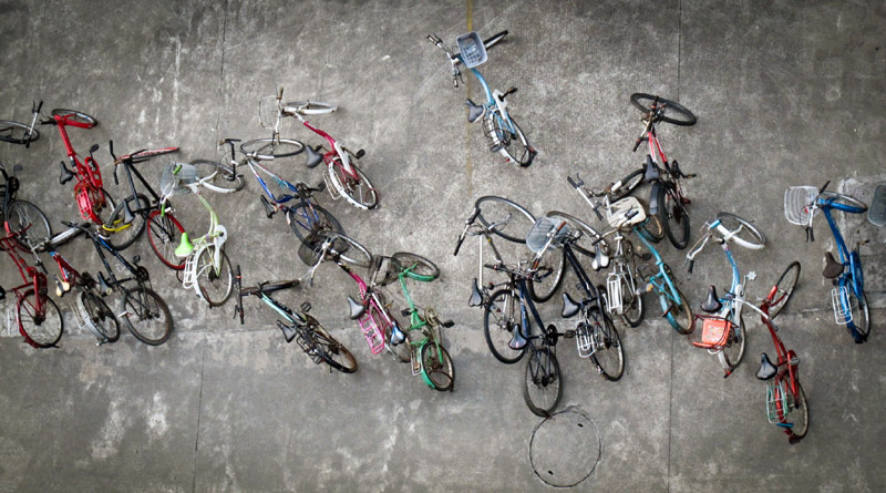 China Bike Parking from above- Photo by James Thomas