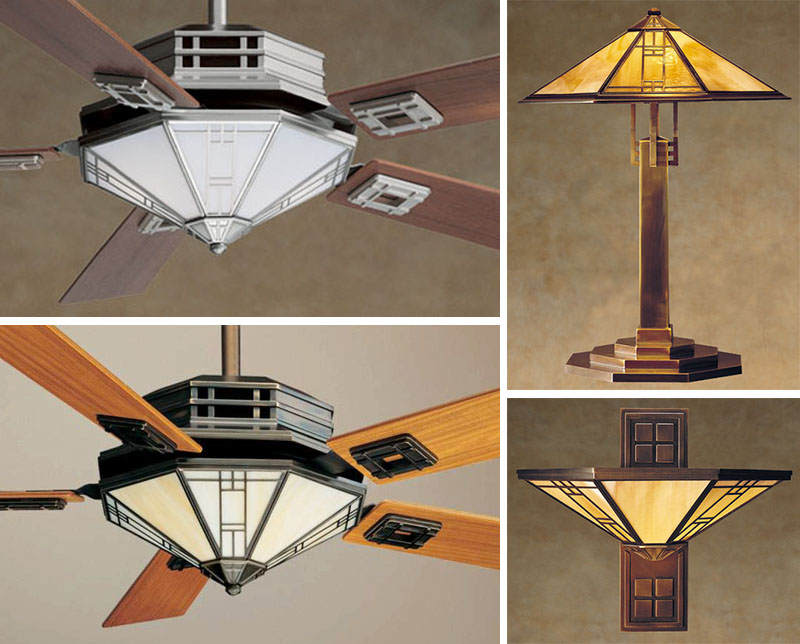 A Mission Style Ceiling Fan For Casablanca With A Matching Table Lamp And  Torchiere. I Designed This Fan In The Mid 90u0027s, But It Is Still In The Line  And ...