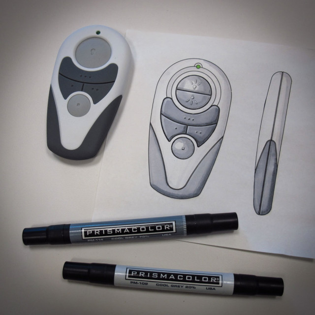 Ceiling fan remote design by James Thomas