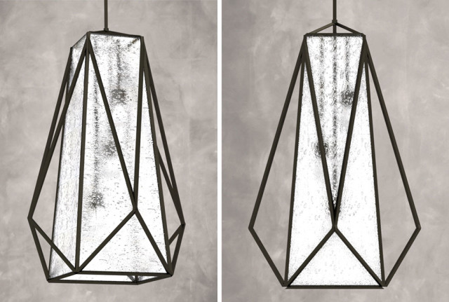 3d rendering of the large Marque pendant design